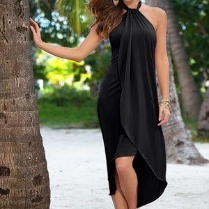 👗Last one Asymmetric Dress Halter🌸